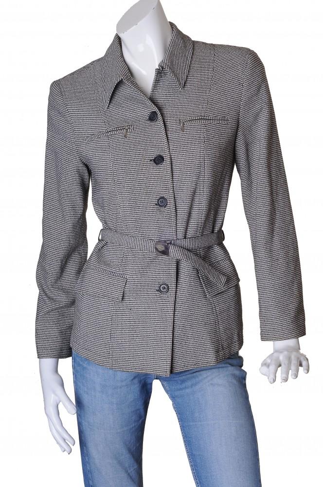 Jacheta din tesatura pepit Cubus, marime 38