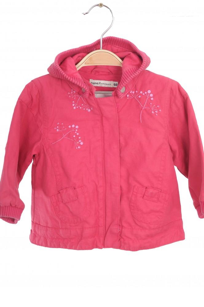 Jacheta bumbac roz Name It, primavara/toamna, 4-6 luni