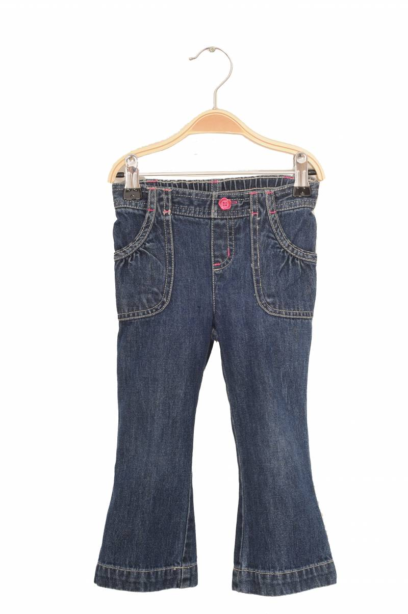 Jeans Jumping Beans, cusaturi si nasture roz, 2 ani