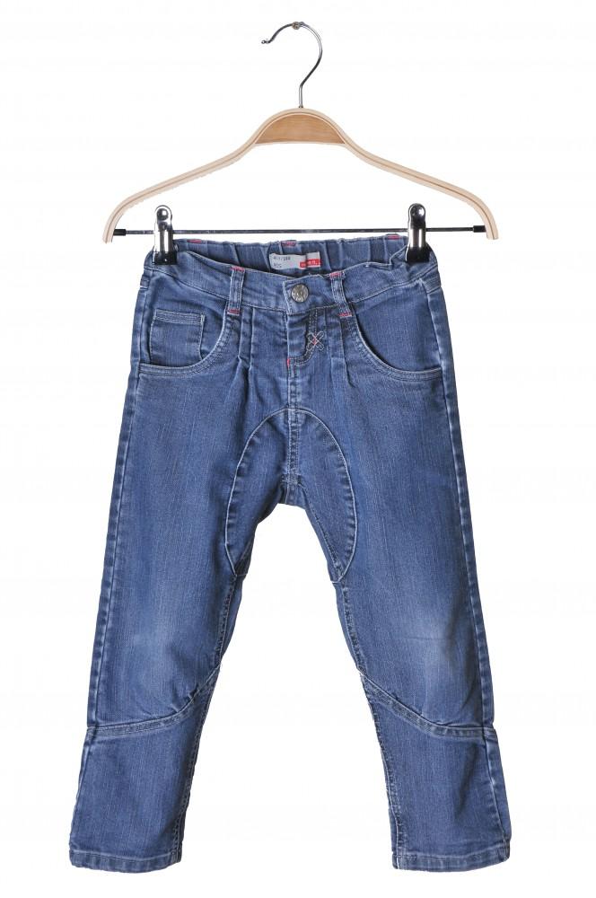 Jeans Name It, talie ajustabila, buzunare cu strasuri, 4-5 ani