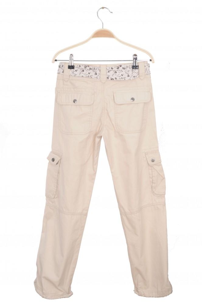 Pantaloni bej multiple buzunare H&M L.O.G.G. 11 ani