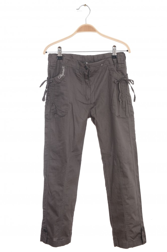 Pantaloni din bumbac Inspire, talie ajustabila, 12-14 ani