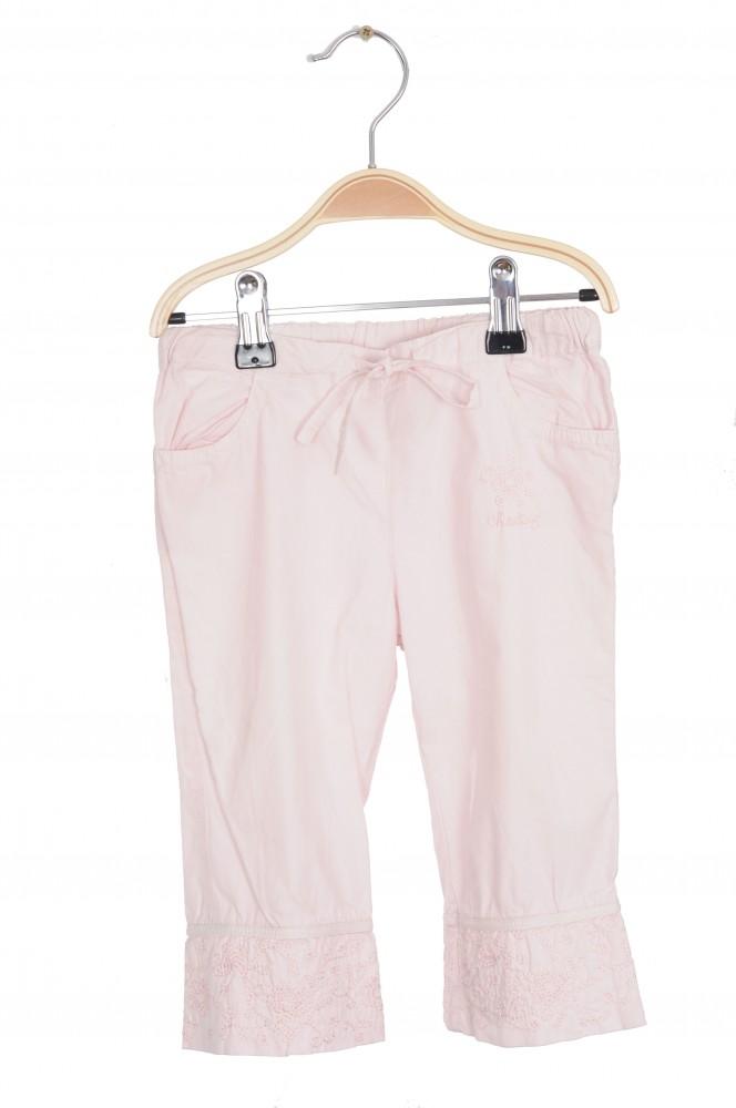 Pantaloni roz cu broderie Cheeky, 18 luni