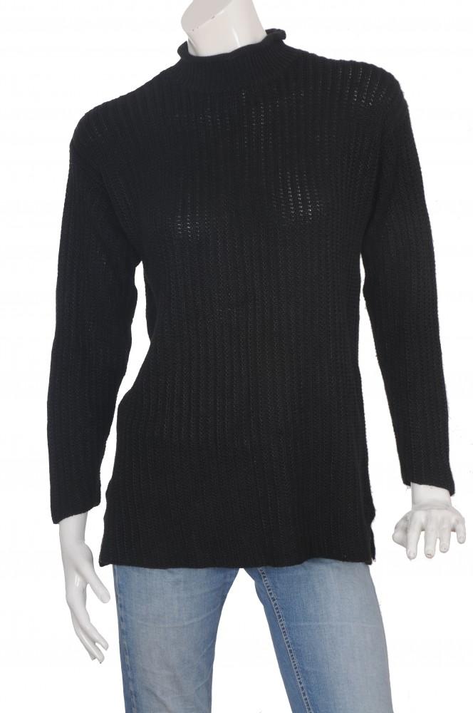 Pulover negru Linnea, marime XL