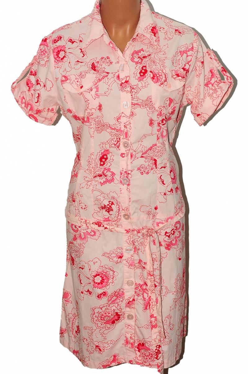 Rochie din bumbac roz imprimeu floral, 14-15 ani