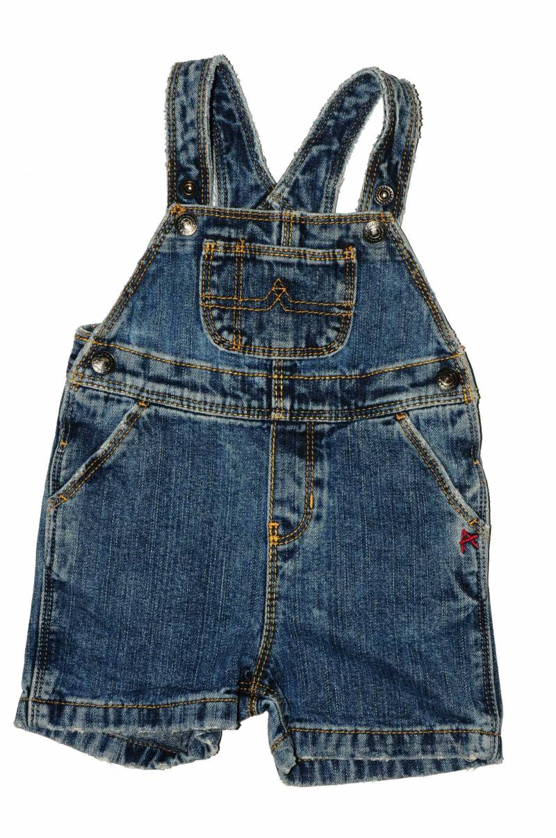 Salopeta scurta denim American Living, 6 luni