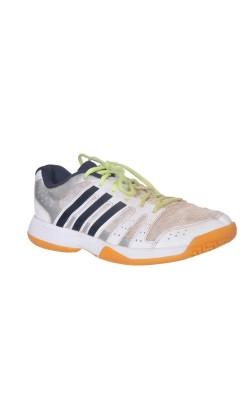 Adidas alb cu 3 dungi negre, marime 39