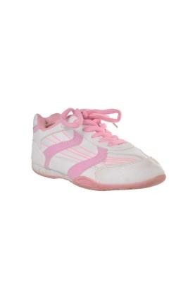 Adidasi albi cu decor roz Axes, marime 27