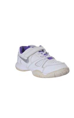 Adidasi albi cu mov Nike, marime 34