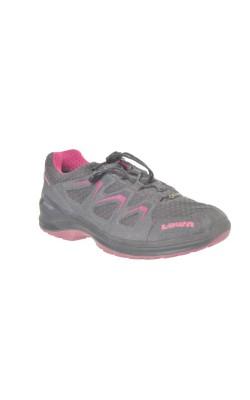 Adidasi gri cu roz Lowa Gore-Tex, marime 31