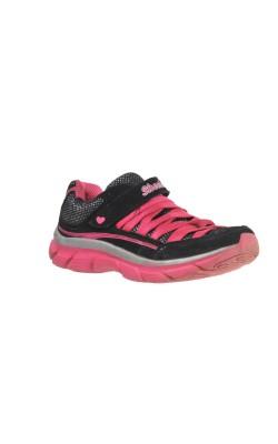 Adidasi negri cu roz Skechers, marime 28