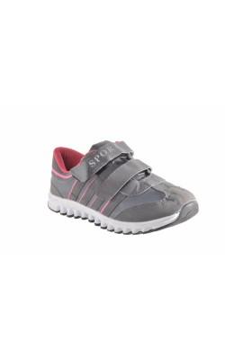 Adidasi Sport gri cu roz, marime 32