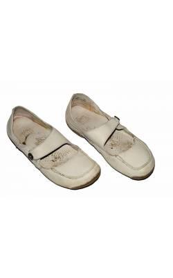 Balerini albi Clarks Active Air, piele, marime 39, calapod lat