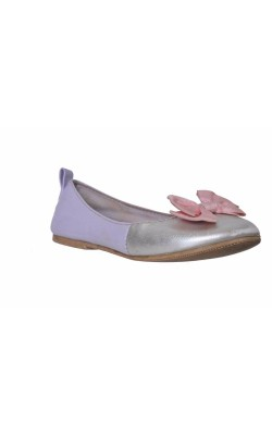 Balerini lila cu argintiu, funda roz, marime 25
