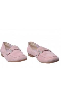 Pantofi Tamaris, piele intoarsa, catarama metalica, marime 39