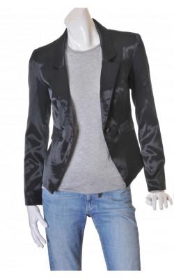 Blazer cambrat negru satinat Vero Moda, marime 38
