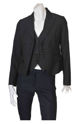 Blazer cu vesta H&M, marime 40