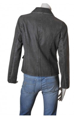 Blazer gri cambrat Leather Man, marime 40