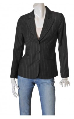 Blazer gri cu dungi albe Simple Wish by B.Young, marime 38