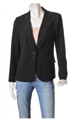 Blazer negru cambrat Collection Debenhams, marime 42