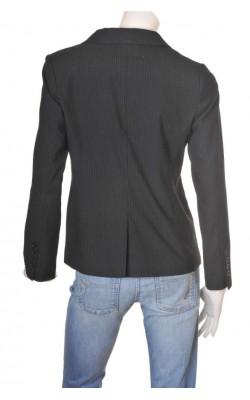 Blazer negru cu dungi H&M, marime 42