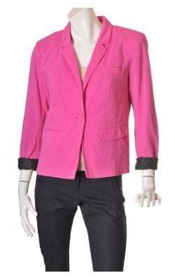 Blazer roz Vero Moda, captuseala bleumarin, marime 46