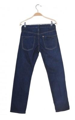 Blugi bleumarin H&M, talie ajustabila, 9-10 ani