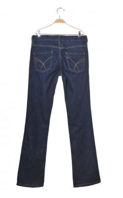 Blugi bleumarin Lindex, regular waist, low bootcut, marime 38