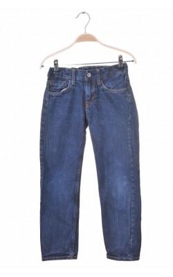 Blugi bleumarin slim fit H&M, talie ajustabila, 8-9 ani