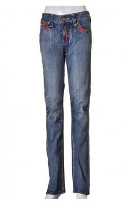Blugi drepti Pepe Jeans, genunchi preformat, marime 36