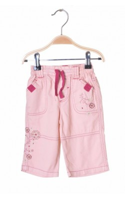 Blugi roz cu broderie Tiny Ted, 3-6 luni