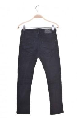 Blugi stretch skinny fit H&M, talie ajustabila, 8-9 ani