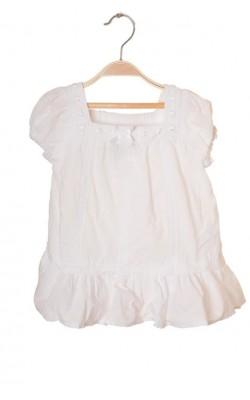Bluza alba cu dantela H&M, 2-3 ani