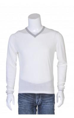 Bluza alba cu guler gri Zara, marime S