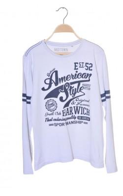 Bluza alba cu imprimeu C&A, 13-14 ani