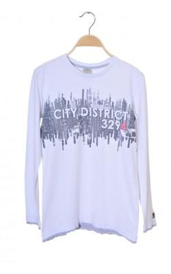 Bluza alba cu imprimeu Try Beyond, 13-14 ani