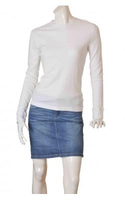 Bluza alba din pique H&M, marime S