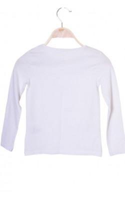 Bluza alba H&M, bumbac organic, 7-8 ani