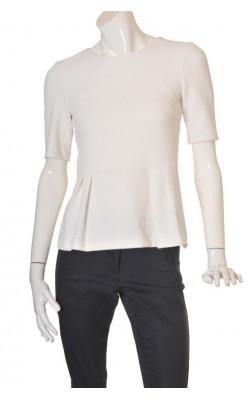 Bluza alba jerseu texturat H&M, marime 38
