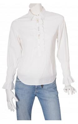 Bluza alba placa dantela Tine Mollat, cambrata, marime 36
