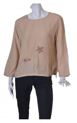 Bluza amestec in Eurasia, broderie fata, marime 44
