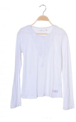 Bluza bumbac bust dantela H&M L.o.g.g., 13-14 ani