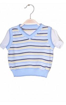 Bluza cu vesta George, 3-6 luni, 8 kg