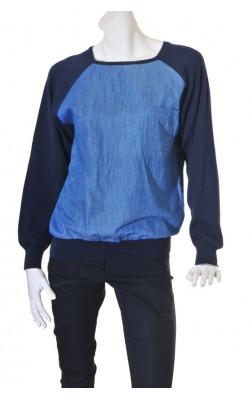 Bluza Cubus, denim cu maneci tricotate, marime M