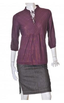Bluza din bumbac cu fir metalic H&M, marime 44