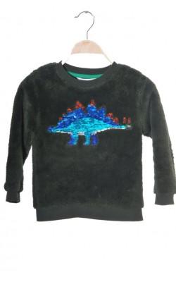 Bluza fleece H&M, Stegoaurus interactiv, 4-6 ani