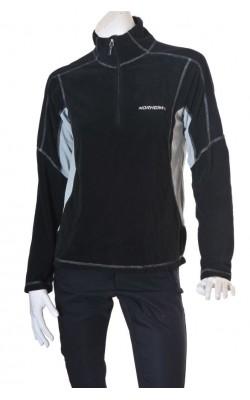 Bluza fleece Norheim, negru cu gri, marime M