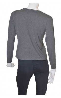 Bluza gri cu broderie Sol Design, marime 40