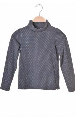 Bluza gri cu buline albe H&M, bumbac organic, 6-8 ani