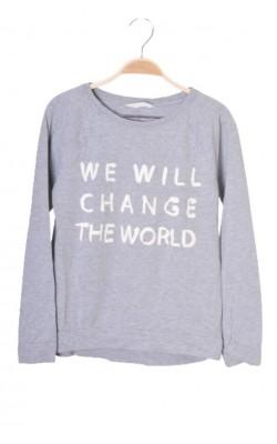 Bluza gri cu imprimeu H&M, 10-12 ani